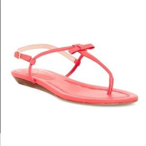 Kate spade pink bow sandals size 7 never worn